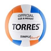 Мяч волейбольный любительский TORRES Simple Orange