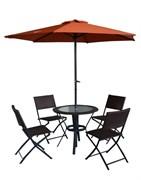 """Комплект складной мебели """"Квартет Люкс""""  (стол - 90 см, 4 стула, зонт)"""