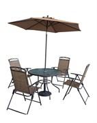 """Комплект складной мебели """"Квартет""""  (стол - 100 см, 4 кресла, зонт)"""