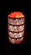 Соляной светильник STAY GOLD - лампа-камин бронзовая в форме цилиндра
