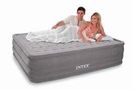 Надувная кровать Intex 66958 двуспальная со встр. насосом 220В (152х203х46)
