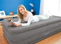 Надувная кровать Intex 67952 односпальная со вст. насосом 220В (99х191х46)