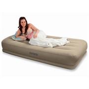 Надувная кровать Intex 67742 односпальная со встр. насосом 220В (99х191х38)