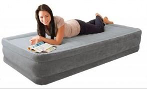 Надувная кровать Intex 67766 односпальная со встр. насосом 220В (99х191х33)
