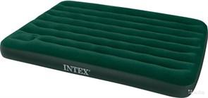 Надувной матрас Intex 66928 полуторный Downy со встр. ножным насосом (137х191х22)