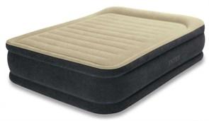Надувная кровать Intex 64408 двуспальная со встр. насосом 220В (152х203х46)