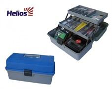 """Ящик двухполочный """"Helios"""" синий - 340х200х160 мм"""