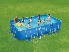 Каркасный бассейн Summer Escapes P20-2052-Z + лестница, тент, подстилка (549х274х132см)