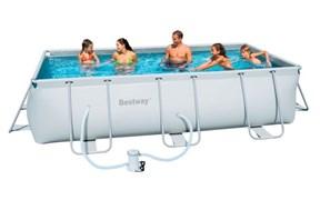Каркасный бассейн Bestway 56251 + фильтр-насос (404х201х100см)
