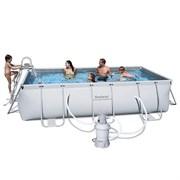 Каркасный бассейн BestWay 56255 + песочный фильтр-насос, лестница (404х201х100см)