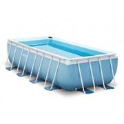 Каркасный бассейн Intex 28318 + фильтр-насос, лестница, подстилка, тент (488х244х107см)