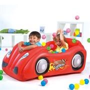 Надувной игровой центр Машинка Bestway 52159 (красный, розовый, желтый)