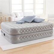 Надувная кровать Intex 64464 двуспальная со встр. насосом 220В  (152х203х51)
