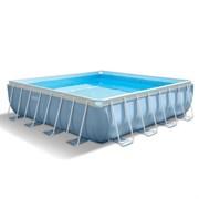 Каркасный бассейн Intex 28764 + фильтр-насос, лестница, подстилка, тент (427х427х107см)