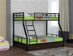Двухъярусная кровать Гранада 1 с ящиком черный