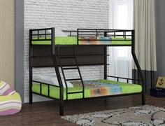 Двухъярусная кровать Гранада 1 с полкой черный