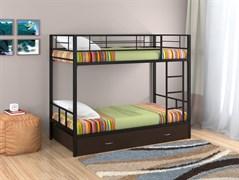 Двухъярусная кровать Севилья 2 с ящиком черный