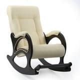 Кресло-качалка, модель 44, венге Dundi 112 Экокожа