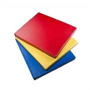 Мат гимнастический 1,0х1,0х0,1м цветной (тент)