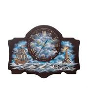 Часы настенные модель 2 (с росписью), Роспись Маяк