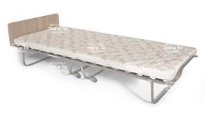 Раскладушка Граф (дуб, орех, венге) с матрасом + изголовье, ограничители матраса (кровать раскладная) 2070x900x400мм